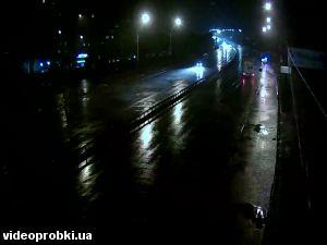Проспект Степана Бандеры, въезд на мост Фукса