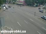 Intersection of streets Dorogozhytska and Oleny Telihi
